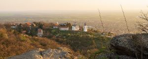 vrsac serbien panorama 300x120 - Sunset Over Small Town Landscape. Beautiful Landscape Of Small Town With Rocks In Foreground. Stunni